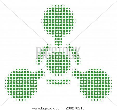 Wmd Nerve Agent Chemical Warfare Halftone Vector Icon. Illustration Style Is Dotted Iconic Wmd Nerve