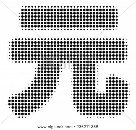 Yuan Renminbi Halftone Vector Icon. Illustration Style Is Dotted Iconic Yuan Renminbi Icon Symbol On