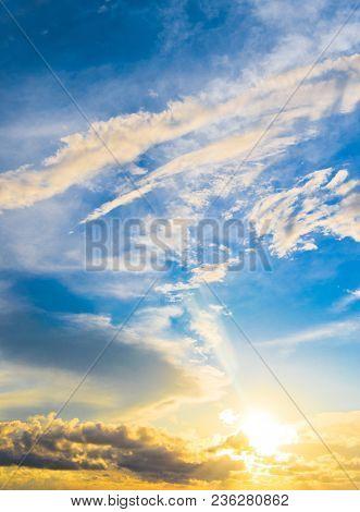 Skies View Sunset Paradise