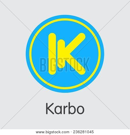 Cryptocurrency Karbo. Net Banking And Krb Mining Vector Concept. Cryptocurrency Mining Finance Logo.