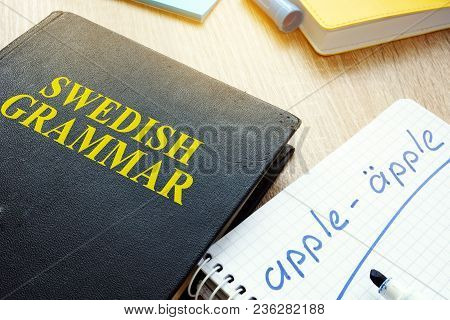 Book With Title Swedish Grammar And Notebook