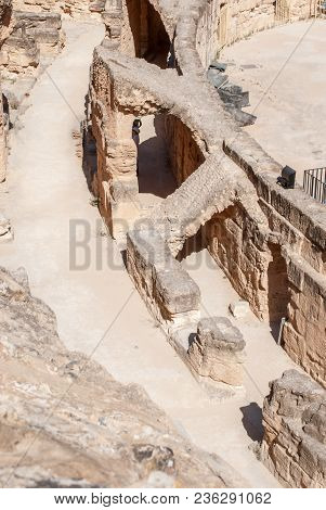 Ancient Ancient Ruins Of The Amphitheater And Scenes For Gladiatorial Fighting