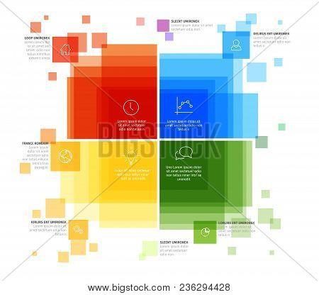 Vector Infographic Diagram Template With Various Descriptive Color Squares