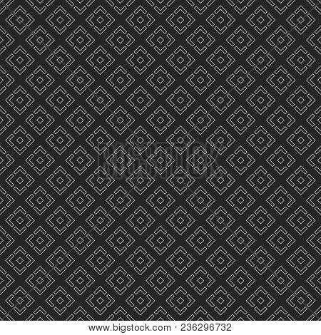 Vector Seamless Pattern. Regularly Repeating Geometric Tiles Of Rhombuses With Symmetric Geometric O