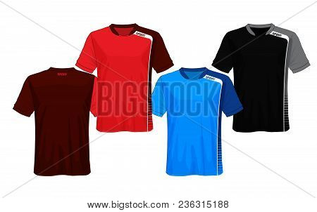 3f0c425c8 Soccer Jersey Template.red And Black Layout Sport T-shirt Design.