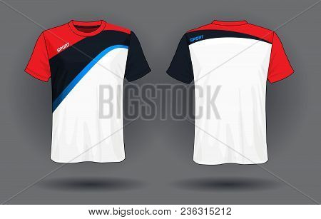 8cb0bc000 Soccer Jersey Template.red And Black Layout Sport T-shirt Design.