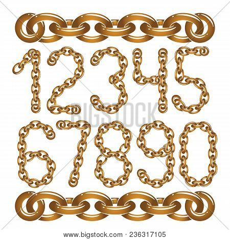 Vector Modern Numbers Collection. Trendy  Numbers For Use As Poster Design Elements. Created Using C
