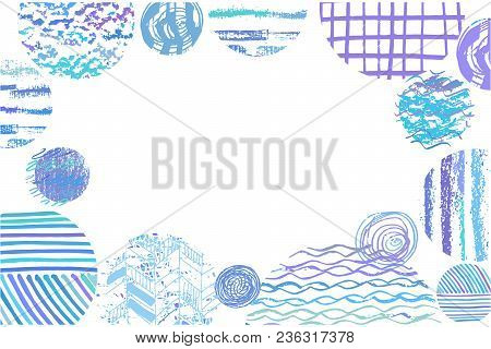 Festive  Beautiful Vector Background With Round Elements. Vintage Decorative Texture. Hand Drawn Asi