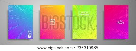 Colorful Covers Design Set. Modern Covers Template Design. Applicable For Design Covers, Pentation,