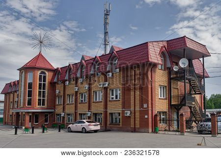 Komsomolskiy, Russia - July 17, 2010: Administrative Building Of Zagros Company. Tyumen Region