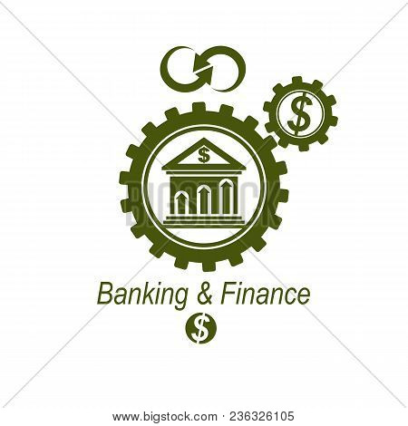 Banking Conceptual Logo, Unique Vector Symbol. Banking System. The Global Financial System. Circulat