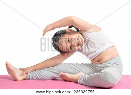 Asian Girl Doing Workout To Lose Weight