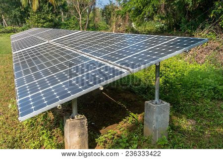 Sun Batteries On Top Of The Hill In The Jungle, Andaman And Nicobar Islands India