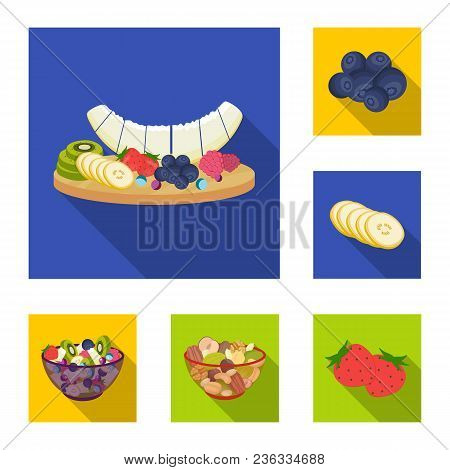 Dessert Fragrant Flat Icons In Set Collection For Design. Food And Sweetness Vector Symbol Stock  Il