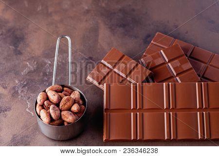 Chocolate chunks and cocoa powder - sweet food