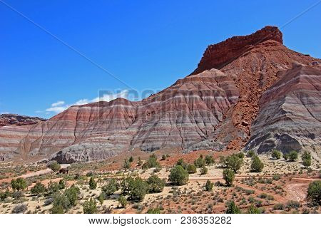 Colorful Badland Hills In Old Paria, Grand Staircase Escalante National Monument, Utah, Usa