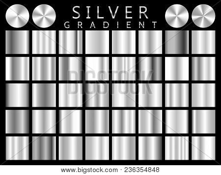 Silver Background Texture Vector Icon Seamless Pattern. Light, Realistic, Elegant, Shiny, Metallic A