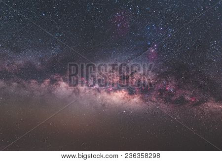 Clearly Milky Way On Night Sky Found At Thailand
