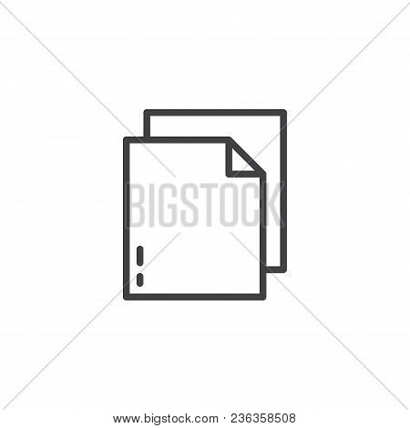 Document File Outline Icon. Linear Style Sign For Mobile Concept And Web Design. Paper Simple Line V