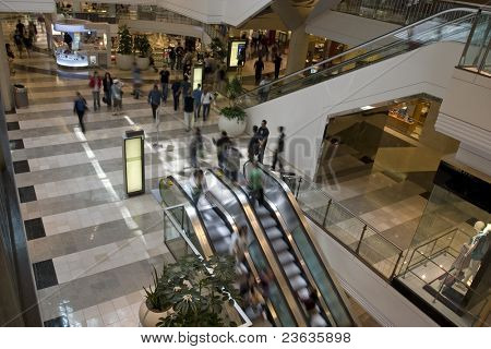 Electric Stairs in Shopping Center, Slow Shutter Speed