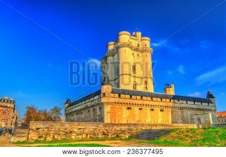 The Chateau De Vincennes, A 14th And 17th Century Royal Fortress Near Paris, Ile-de-france