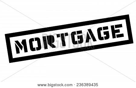 Mortgage Typographic Stamp. Black And Red Stamp Series.