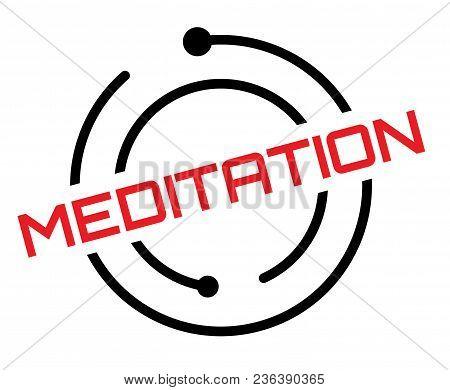 Meditation Typographic Label, Sign. Clean Modern Series