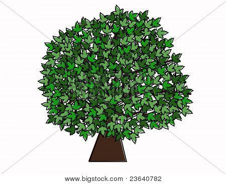 Retro Style Tree Illustration