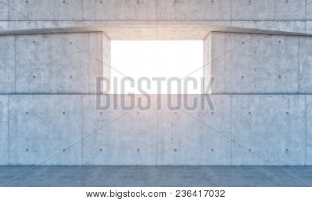 concrete wall and window 3d rendering image