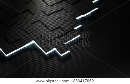 3d rendering image of square carbon fiber background