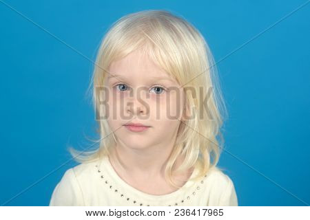 Childhood And Happiness Of Innocent Girl. Fashion Style And Beauty Look. Child With Happy Face And B