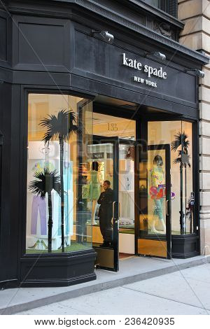 New York, Usa - July 1, 2013: Kate Spade Store In 5th Avenue, New York. 5th Avenue Is Ranked The Mos