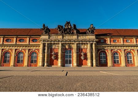 A View From The Ground To The Marstall In Potsdam