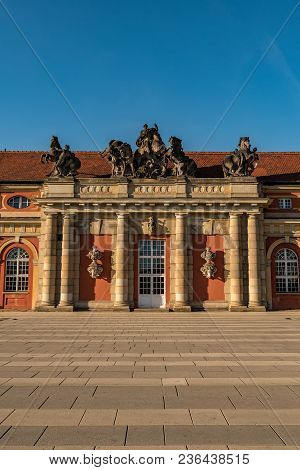 A Front Perspective Of The Marstall In Potsdam