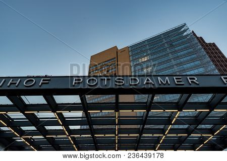The Train Station Entry Of The Potsdamer Platz In Berlin