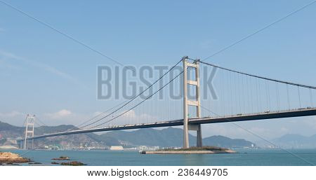 Ma wan, Hong Kong, 02 April 2018:-Hong Kong Tsing ma bridge