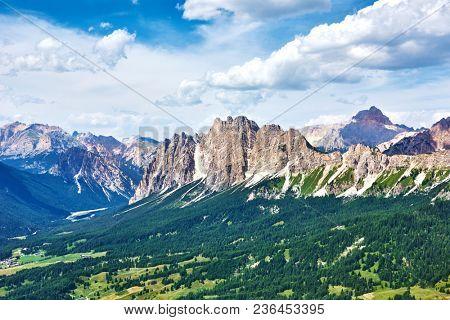 Dolomite mountains near Cortina d'Ampezzo. Pomagagnon mountain