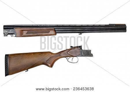 Barrels, Fore-end, Stock Is Separate Parts Of A Smooth-bore, Hunting Or Sports Double-barrelled Shot
