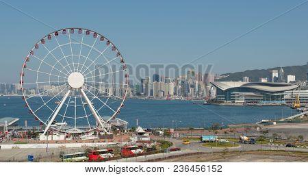 Central, Hong Kong, 09 March 2018:- Ferris Wheel in Hong Kong