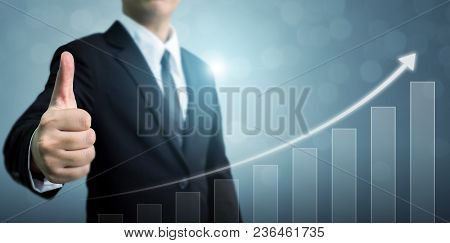 Business Development To Success And Growing Growth Concept. Businessman Showing Ok Or Hand Sign Thum