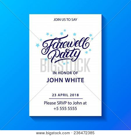 Farewell Party Hand Vector Photo Free Trial Bigstock