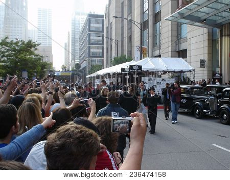 Christian Bale Outside Amc Movie Theater For The Chicago Premier Of The Movie Public Enemies, Chicag