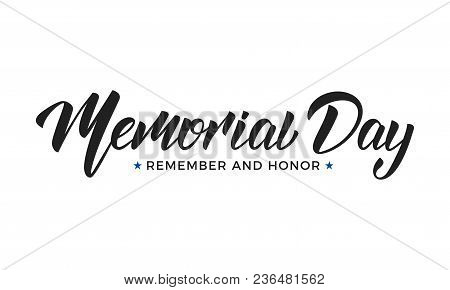 Memorial Day. Usa Memorial Day Lettering Typography Design.