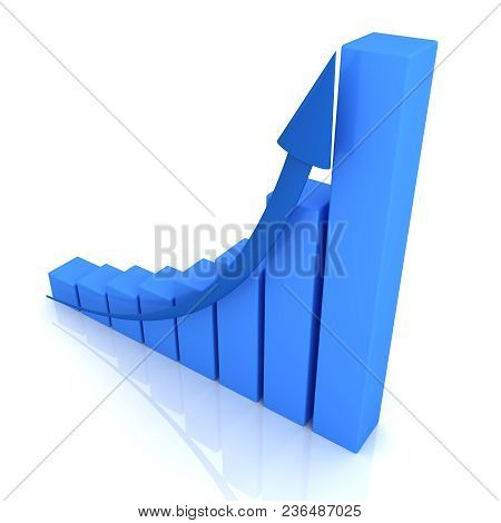 Growth Concept Leadership On White Background. 3d Image Renderer