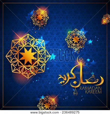 Illustration Of Ramadan Kareem Generous Ramadan Greetings In Arabic Freehand For Islam Religious Fes