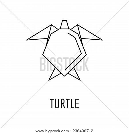 Origami Turtle Icon Vector Photo Free Trial Bigstock