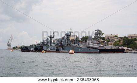 Russia,sevastopol - June 13, 2014:small Rocket Ships In Sevastopol Bay. Naval Forces Of Russia