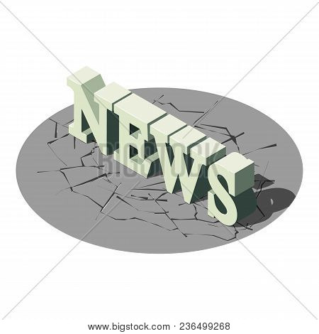 News Icon. Isometric Illustration Of News Vector Icon For Web