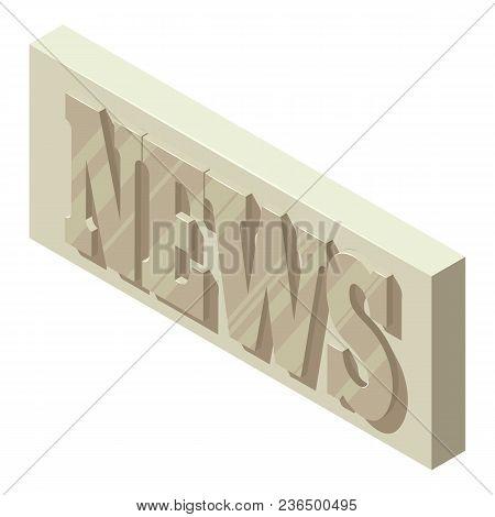 Periodic News Icon. Isometric Illustration Of Periodic News Vector Icon For Web