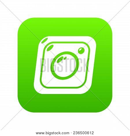 Photo Icon Green Vector Isolated On White Background
